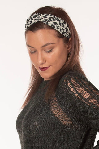 Silk Leopard Headband