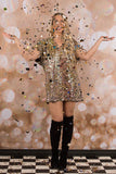 Pop-Fizz-Clink Sequin Dress