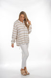 White Sand Striped Pullover