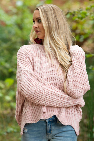 Bubble Gum Chanille Sweater