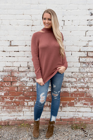 Marsala Knit Sweater