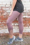 Mauve Lattice Leggings