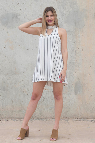 Striped Gigi Collar Dress