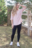 Blush French Terry Tee