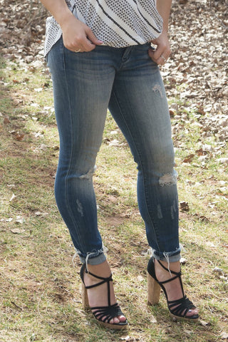 Medium Ankle Fray Skinny