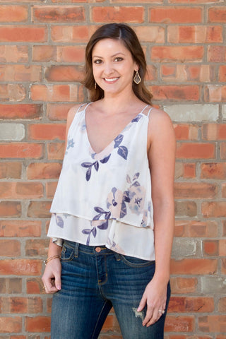 Floral Double Layer Tank