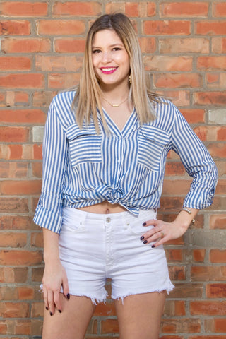 Blue Lagoon Striped Blouse