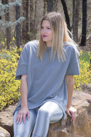 Grey Oversized Top