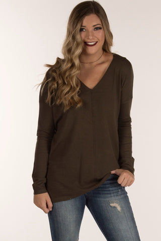 Dark Olive Pull Over Sweater