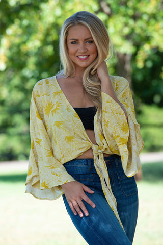 Lemonade Bell Sleeve Top