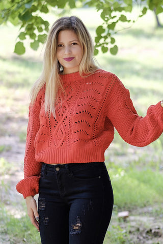 Red Hot Cable Sweater