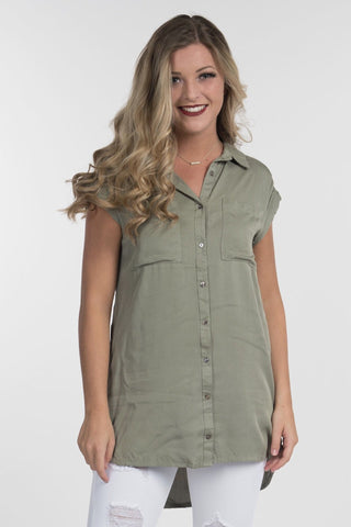Sage Sleeveless Blouse