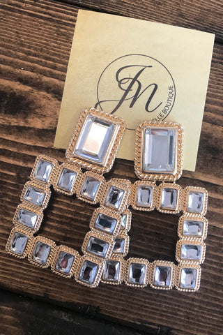 Audrey Crystal Earrings