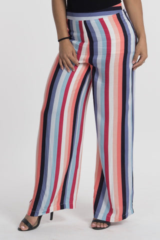 Multi Colored Striped Pants