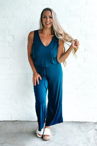 Find Me Loungin' Navy Jumpsuit