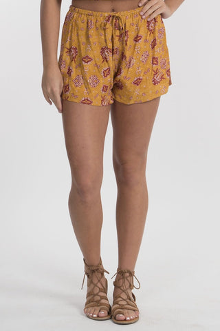Gold Tie Front Shorts