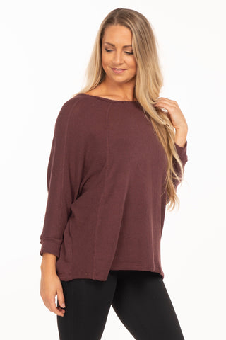 Orchid Waffle Knit Top