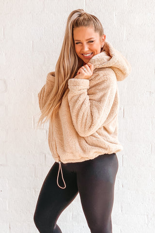 Tan Teddy Pullover