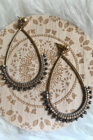 Hematite Beaded Earrings
