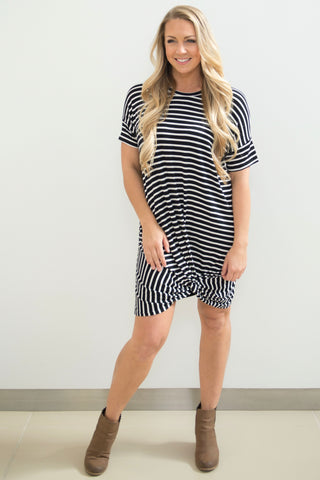 Stripe Knot Dress