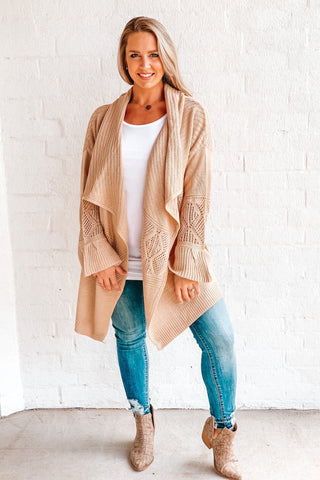 Fall Flare Natural Woven Cardi