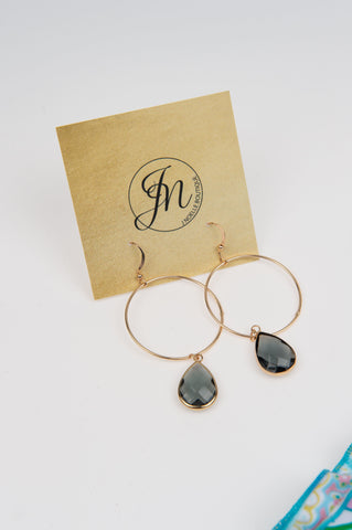 Gold Drop Hoops