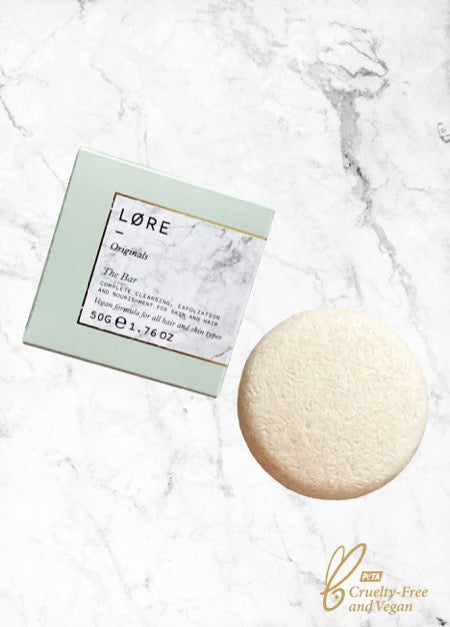 Lore Originals The Bar vegan Shampoo + Body Wash made in the UK.
