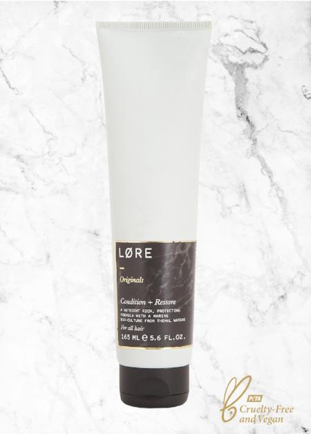 Lore Originals  Condition + Restore vegan conditioner made in the UK.