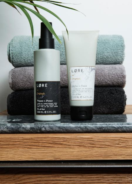 Lore Originals Prepare + Protect vegan hair primer made in the UK.