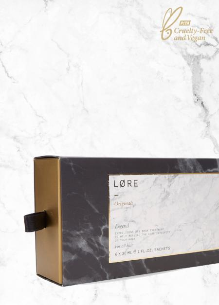 Lore Originals vegan intensive hair treatment mask made in the UK.