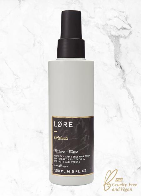 Lore Originals Texture + Wave vegan salt spray made in the UK.
