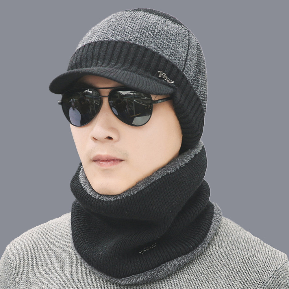 Winter Beanies Wool Knitted Hat Scarf for Men Women – MyGoToDeals 6888ff97875