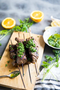 Beef Kabobs with Chimichurri