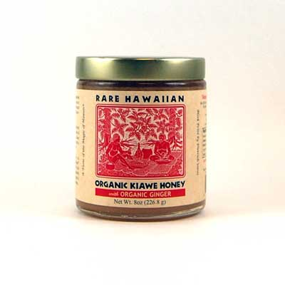 Rare Hawaiian Organic Ginger-Infused Kiawe Honey