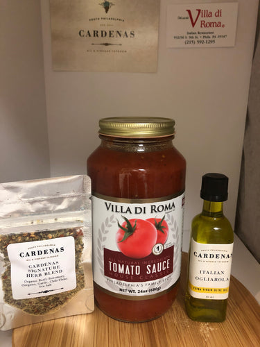 Villa di Roma House Sauce Gift Pack with Cardenas 60ml Italian Olive Oil and Herb Blend
