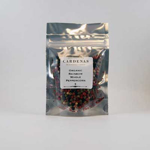 Organic Rainbow Whole Peppercorns