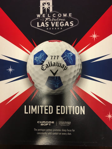 CALLAWAY CHROME SOFT LIMITED EDITION LAS VEGAS GOLF BALLS, RED/WHITE/BLUE