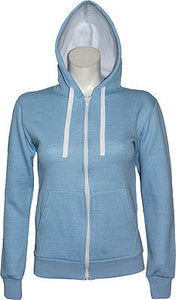 Womens Fleece Hooded Top Long Sleeves
