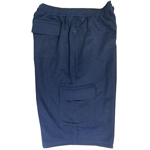 MENS FLEECE SHORTS CARGO COMBAT STYLE NAVY