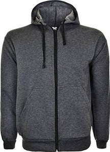 Mens Fleece Hooded Top Charcoal
