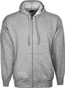 Mens Fleece Hooded Top Grey