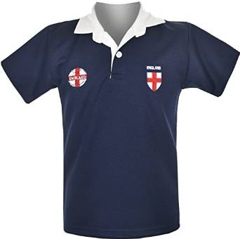 Kids England Euro Football Championship Fans Supporter T-Shirt Navy