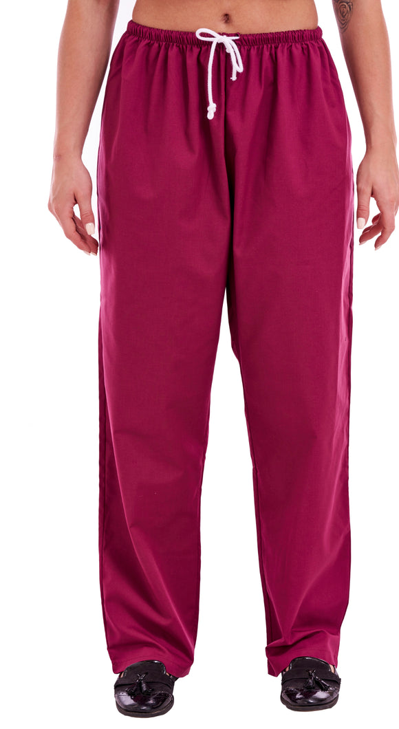 8b635118d72 Unisex Medical Scrub Trouser Mehroon – First Uniform Solutions
