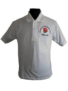 ENGLAND RUGBY GRAND SLAM WINNERS 2016 PIQUE POLO T-SHIRT WHITE