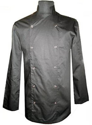 CHEF'S LONG SLEEVE JACKET BLACK