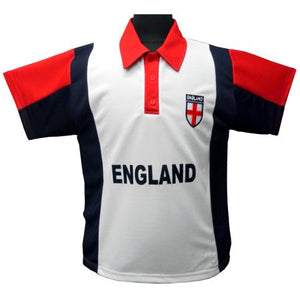 Kids England Print T-Shirt With Embroidered Logo