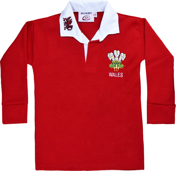 4cdeb54d225 Wales Welsh CYMRU Rugby Kids Shirt Long Sleeves Boys And Girls – First  Uniform Solutions