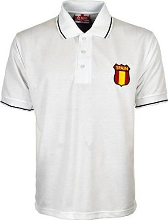 Men's Spain Euro Football Championship Pique Polo T-Shirt