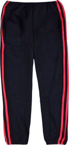 MEN TRACKSUIT BOTTOM JOGGING BOTTOM CARGO/COMBAT STYLE IN TRICOTE FABRIC BLACK/RED
