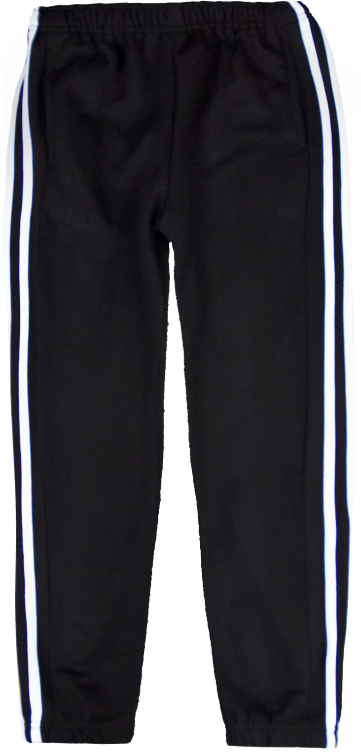 MEN TRACKSUIT BOTTOM JOGGING BOTTOM CARGO/COMBAT STYLE IN TRICOTE FABRIC Black/White